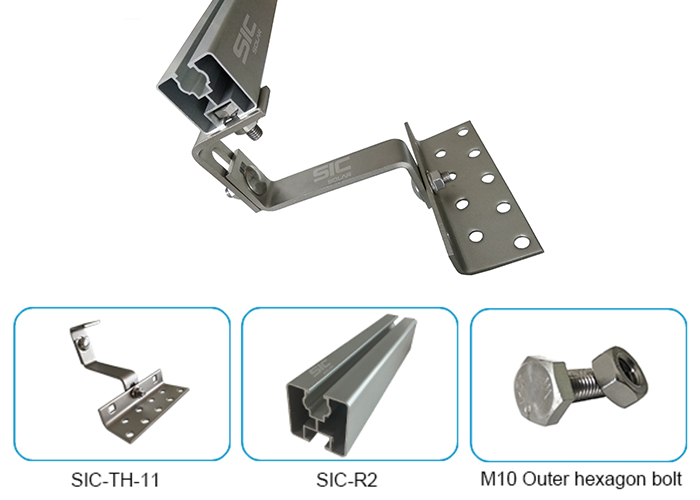 Solar panels mounting brackets roof hook