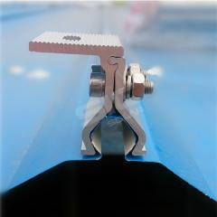 Non penetrating roof mount for solar panel