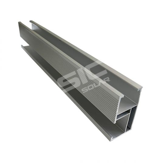 Aluminum mounting rails for solar panels