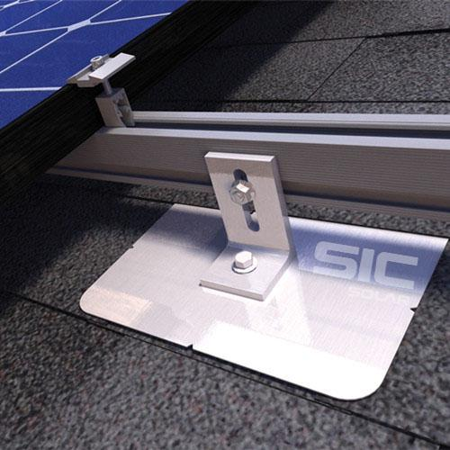 Pitched roof solar flashing kit