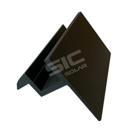 Solar aluminium black/silver end rail clamps