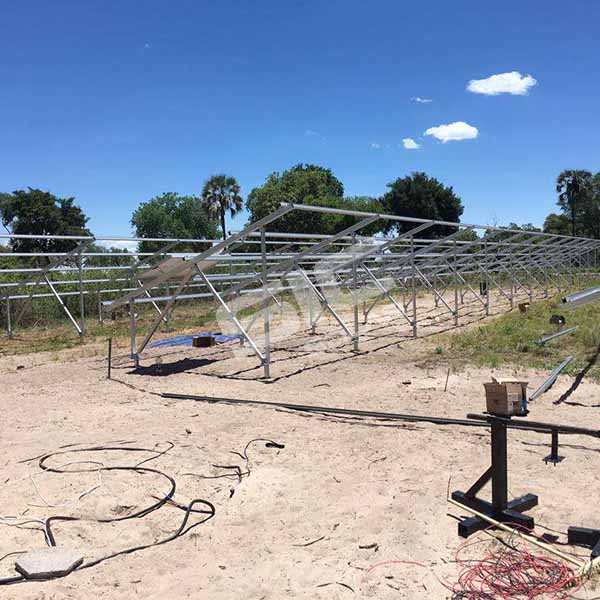 SIC new 88kw ground mounting project located in Botswana