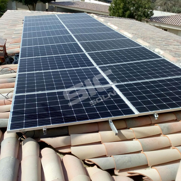 50KW Tile roof mounting in UAE