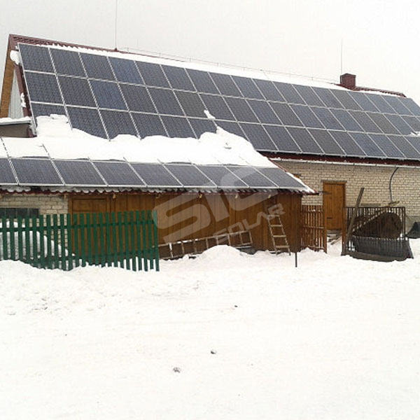 18KW tile roof mounting in Lithuania